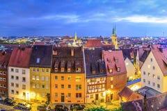 Nuremberg, Germany. Old city skyline Royalty Free Stock Images