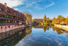 Nuremberg-Germany- old town- mirror cityscape stock photo