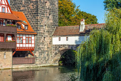 Nuremberg-Germany-old town- river Pegnitz Royalty Free Stock Photo