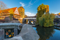 Nuremberg-Germany-old town-river Pegnitz Stock Photos