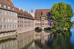 Nuremberg, Germany on the Pegnitz River Royalty Free Stock Image