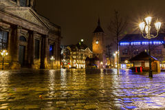 Nuremberg, Germany-rainy night- old town Stock Image