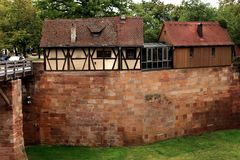 Nuremberg, Germany, view from the Castle walls Stock Images