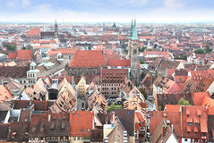 Nuremberg in Germany. View over Nuremberg old town from the Kaiserburg, Franconia, Bavaria, Germany Stock Images