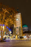 Nuremberg, Germany-White Tower-night cityscape stock photography
