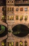 Nuremberg, het close-up van Duitsland-Heilig Geist Spital- Stock Fotografie