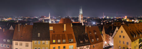 Nuremberg het panorama van Duitsland, cityscape stock fotografie