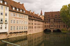 Nuremberg Hospital and Old Pharmacy Buildings, Bavaria, Germany. Stock Images