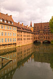 Nuremberg Hospital and Old Pharmacy Buildings, Bavaria, Germany. Royalty Free Stock Image