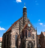 Nuremberg - iglesia de nuestra señora Imágenes de archivo libres de regalías