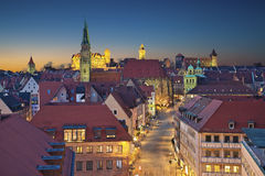 Nuremberg. Image of historic downtown of Nuremberg, Germany at sunset Royalty Free Stock Images