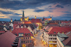 Nuremberg. Image of historic downtown of Nuremberg, Germany at sunset Royalty Free Stock Photo