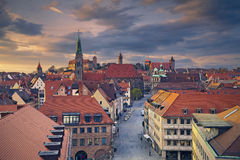 Nuremberg. Image of historic downtown of Nuremberg, Germany at sunset Royalty Free Stock Photos