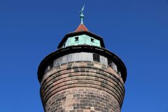 Nuremberg Imperial Castle. Nuremberg city in Germany (region of Middle Franconia). The Imperial Castle - Sinwell Tower royalty free stock photography