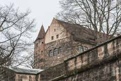 The Nuremberg Imperial Castle Keiserburg from Holy Roman Empire, Nuremberg, Germany. The Nuremberg Imperial Castle Keiserburg from Holy Roman Empire - one of the royalty free stock images