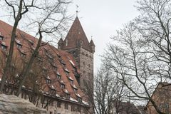 The Nuremberg Imperial Castle Keiserburg from Holy Roman Empire, Nuremberg, Germany. The Nuremberg Imperial Castle Keiserburg from Holy Roman Empire - one of the stock photography