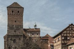 The Nuremberg Imperial Castle Keiserburg from Holy Roman Empire, Nuremberg, Germany. The Nuremberg Imperial Castle Keiserburg from Holy Roman Empire - one of the stock photo