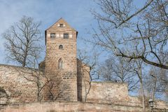 The Nuremberg Imperial Castle Keiserburg from Holy Roman Empire, Nuremberg, Germany. The Nuremberg Imperial Castle Keiserburg from Holy Roman Empire - one of the royalty free stock image