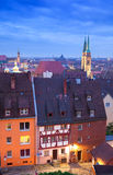 Nuremberg (Nürnberg), Germany. Skyline of the German city Nuremberg (Nürnberg) as seen from the castle hill Royalty Free Stock Images