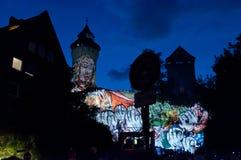 Nuremberg, Niemcy - Kostkowy Blaue Nacht 2012 Zdjęcia Royalty Free