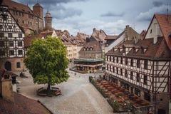 NUREMBERG NIEMCY, KWIECIEŃ, - 26, 2016: Stary miasteczko Nuremberg fotografia royalty free