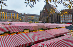 Nuremberg (Nuernberg), Germany-Christmas Market-Church of Our Lady Royalty Free Stock Photography