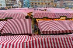 Nuremberg (Nuernberg), Germany-Christmas Market-many stalls Stock Photography