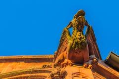 Nuremberg (Nuernberg), Tyskland detaljkyrka av vår dam Arkivfoton