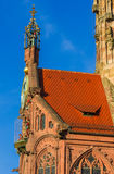 Nuremberg (Nuremberg), Alemania detalla la iglesia de nuestra señora Foto de archivo