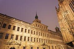Nuremberg old town hall - Lochgefaengnisse Stock Photos