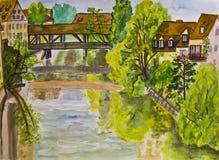 Nuremberg, painting Royalty Free Stock Images