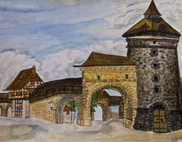 Nuremberg, painting Royalty Free Stock Photo