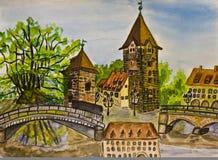 Nuremberg, painting Stock Photography