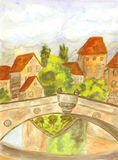 Nuremberg, painting royalty free stock photo