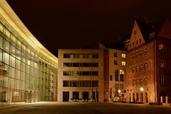 Nuremberg par nuit images stock