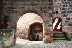 Nuremberg. Road to residence of imperor in old Nuremberg Royalty Free Stock Photo