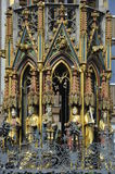 Nuremberg, Schoener Brunnen (= beautiful fontain) Stock Photography
