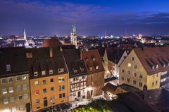 Nuremberg Skyline Stock Photo