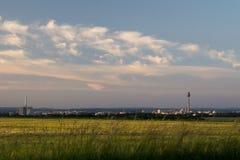 Nuremberg skyline at the golden hour stock photos