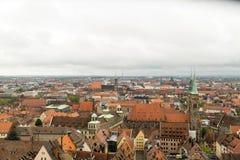 Nuremberg skyline view Stock Photography