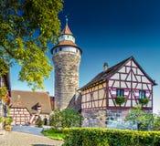 Nuremberg slott Arkivbild