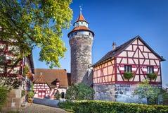 Nuremberg slott royaltyfri fotografi