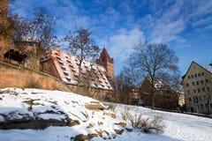 Nuremberg in Sno Stock Foto's