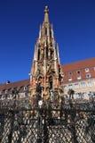 Nuremberg springbrunn arkivbilder