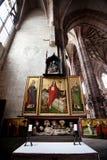 NUREMBERG TYSKLAND - JUNI 20: Inre av kyrkan för St Lorenz (St Lawrence) Royaltyfri Foto