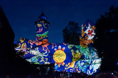Nuremberg Tyskland - matris Blaue Nacht 2012 Arkivfoto
