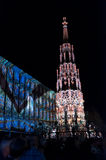 Nuremberg Tyskland - matris Blaue Nacht 2012 Arkivfoton