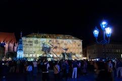 Nuremberg Tyskland - matris Blaue Nacht 2012 Royaltyfri Foto