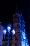 Nuremberg Tyskland - matris Blaue Nacht 2012 Fotografering för Bildbyråer