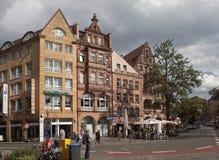 NUREMBERG TYSKLAND - SEPTEMBER 04, 2015: Foto av den Königsstraße shoppinggatan Royaltyfria Foton